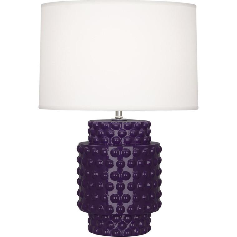 Robert Abbey Amethyst Dolly Accent Lamp in Amethyst Glazed Textured Ceramic AM801