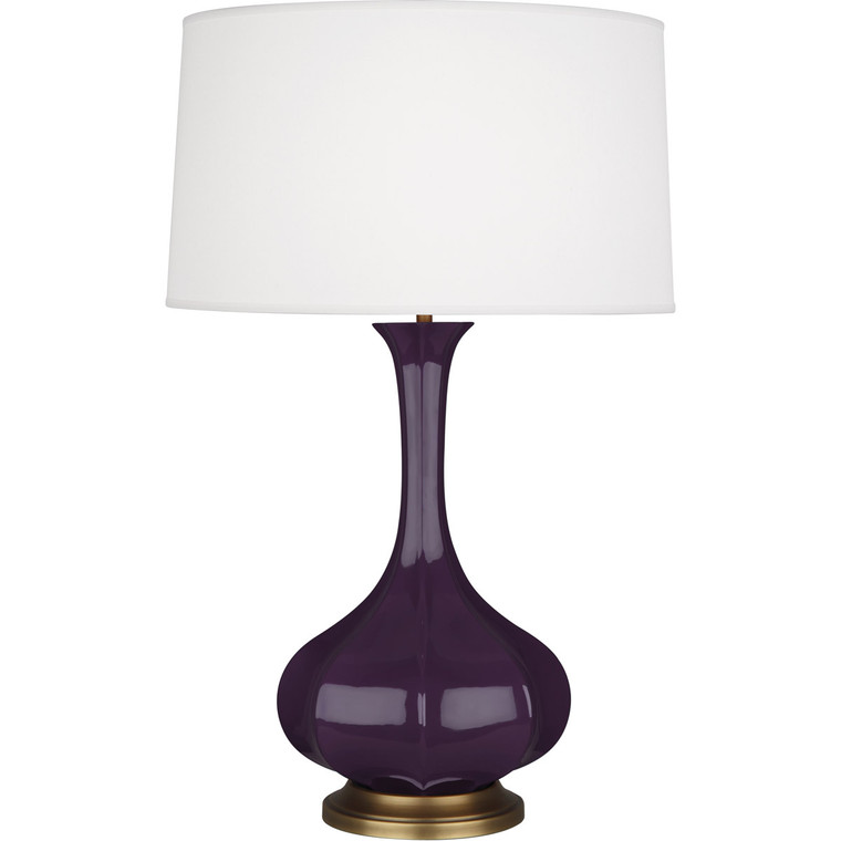 Robert Abbey Amethyst Pike Table Lamp in Amethyst Glazed Ceramic AM994