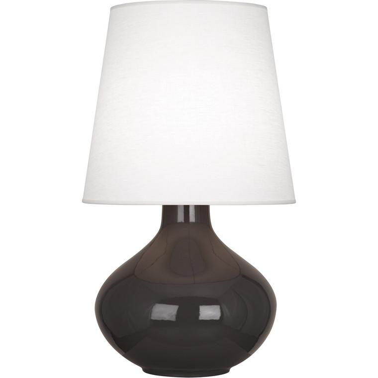 Robert Abbey Coffee June Table Lamp in Coffee Glazed Ceramic CF993