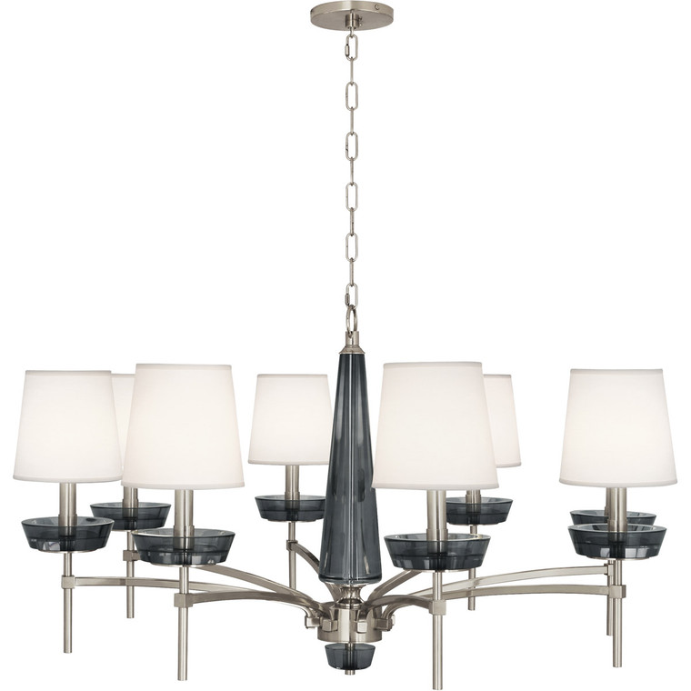 Robert Abbey Cristallo Chandelier in Polished Nickel Finish S625