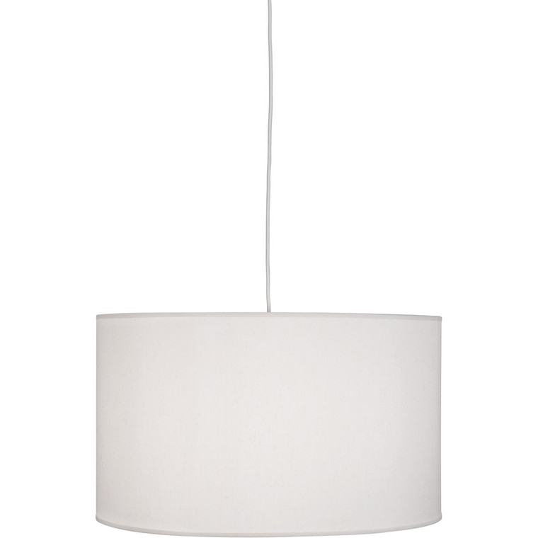 Robert Abbey Elena Pendant in Painted White Finish W169