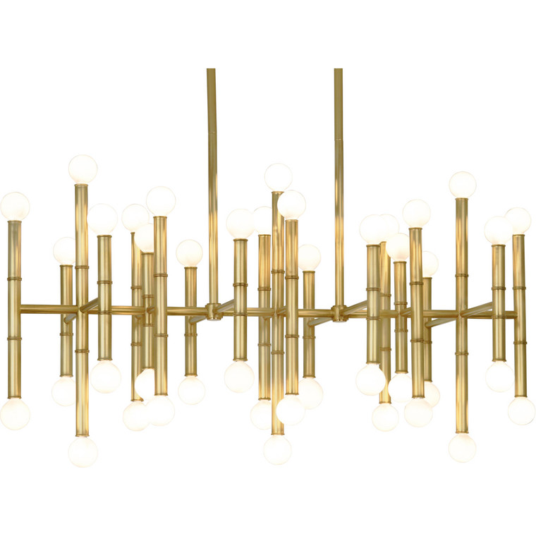 Robert Abbey Jonathan Adler Meurice Chandelier in Modern Brass 687