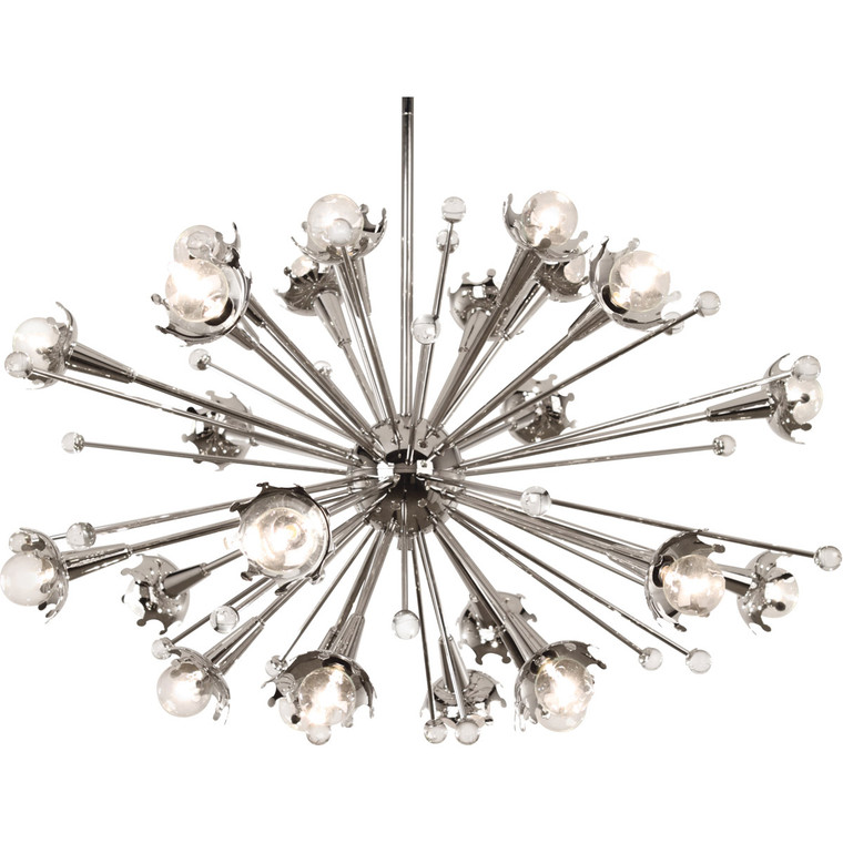 Robert Abbey Jonathan Adler Sputnik Chandelier in Polished Nickel with Crystal Accents S710