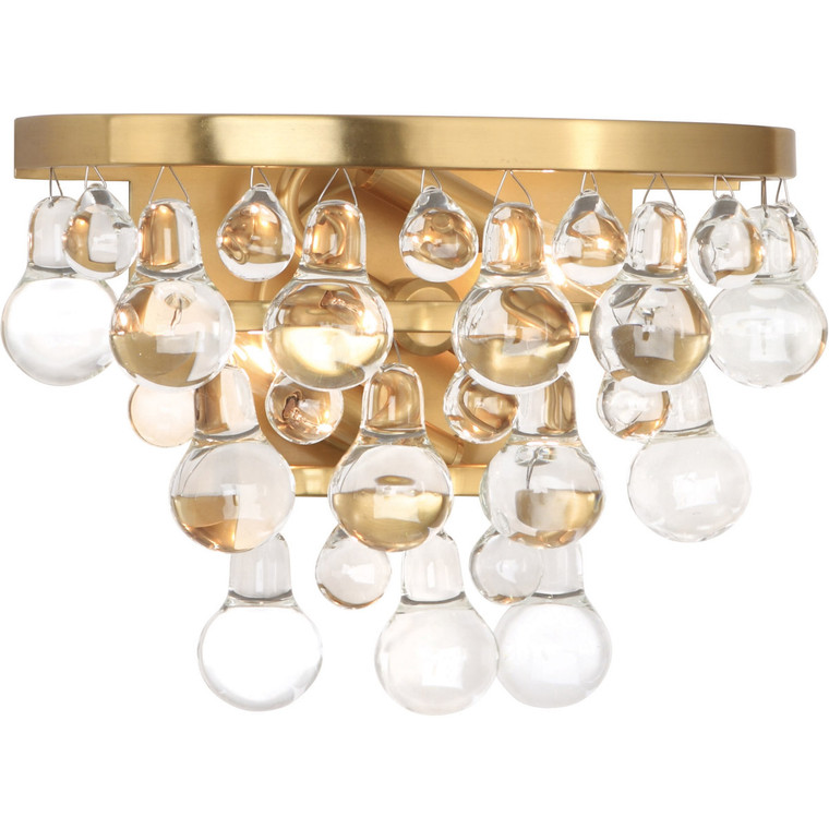 Robert Abbey Bling Wall Sconce in Antique Brass 1001