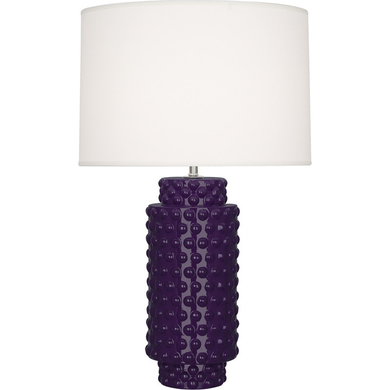 Robert Abbey Amethyst Dolly Table Lamp in Amethyst Glazed Textured Ceramic AM800