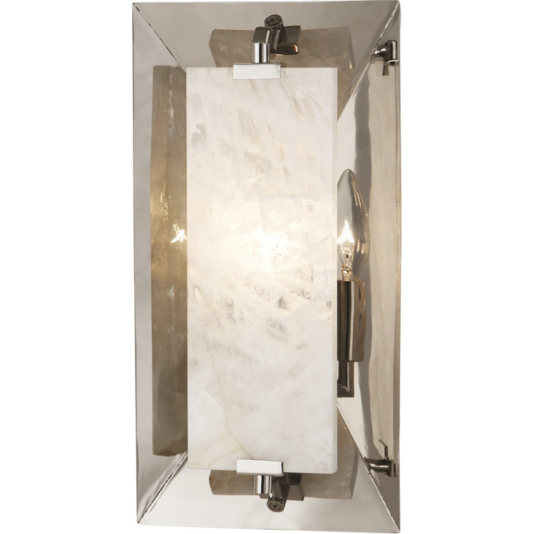 Robert Abbey Gemma Wall Sconce in Polished Nickel Finish w/ Rock Crystal Accent S373