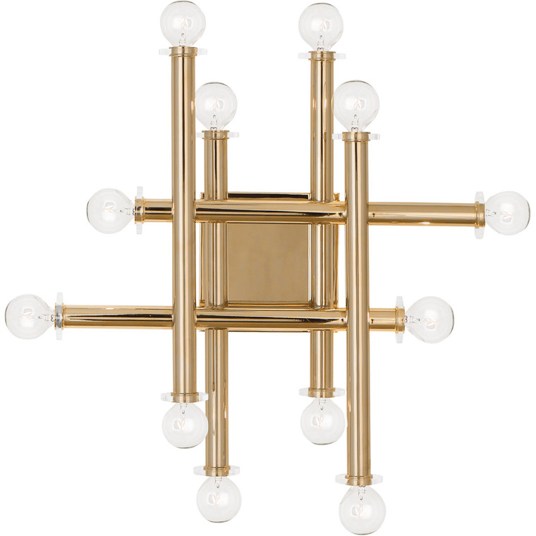 Robert Abbey Jonathan Adler Milano Wall Sconce in Polished Brass Finish 901