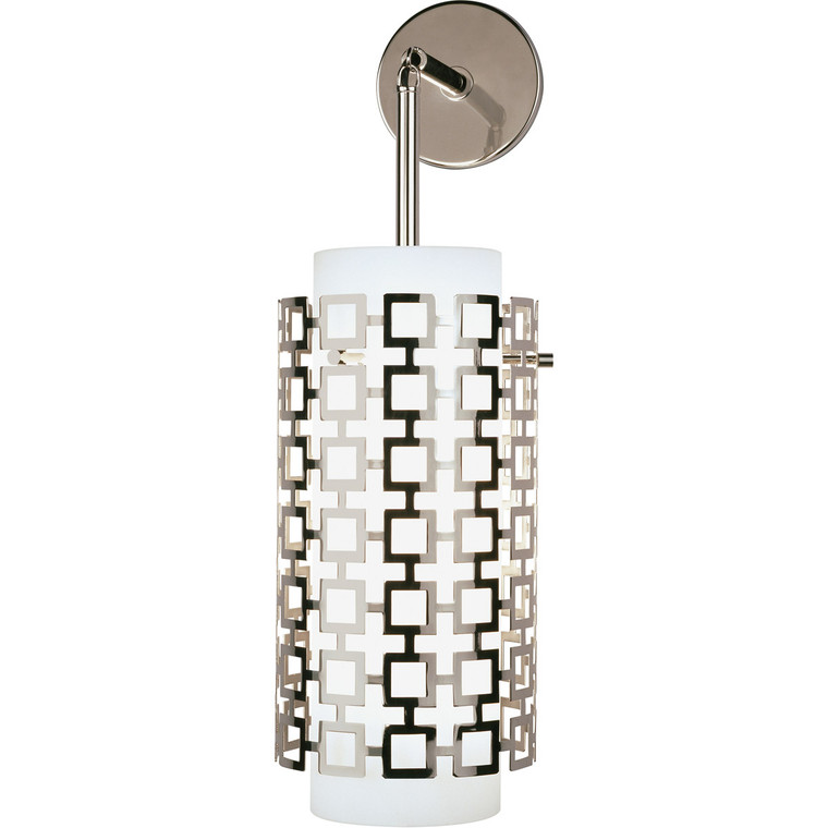 Robert Abbey Jonathan Adler Parker Wall Sconce in Polished Nickel S667