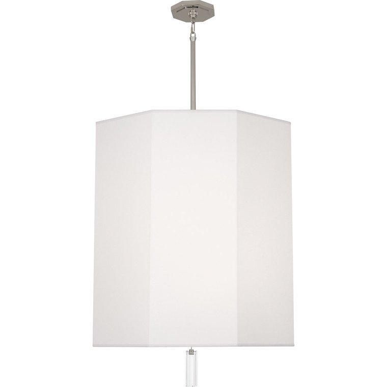 Robert Abbey Kate Pendant in Polished Nickel Finish w/ Clear Crystal Accent AW203