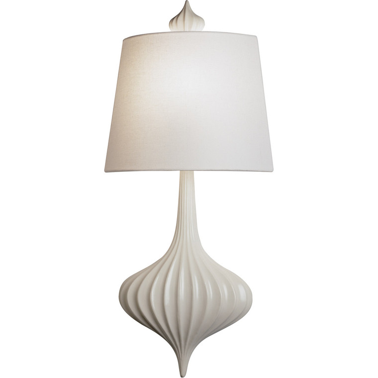 Robert Abbey Jonathan Adler Ceramic Sconce Wall Sconce in Ceramic with White Glaze Finish 732