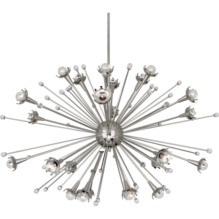 Robert Abbey Jonathan Adler Sputnik Chandelier in Polished Nickel with Crystal Accents S714