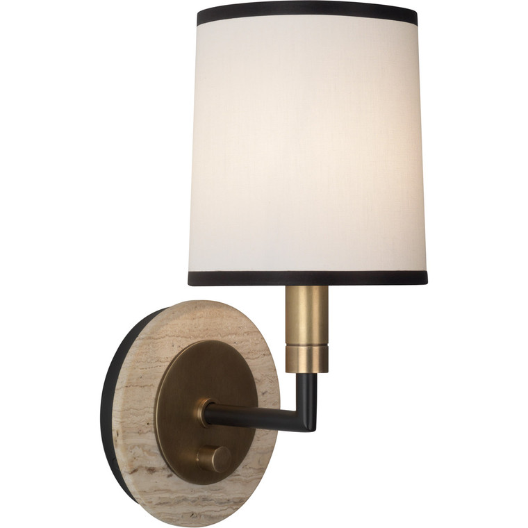 Robert Abbey Axis Wall Sconce in Aged Brass Finish with Cocoa Brown Accents 2136