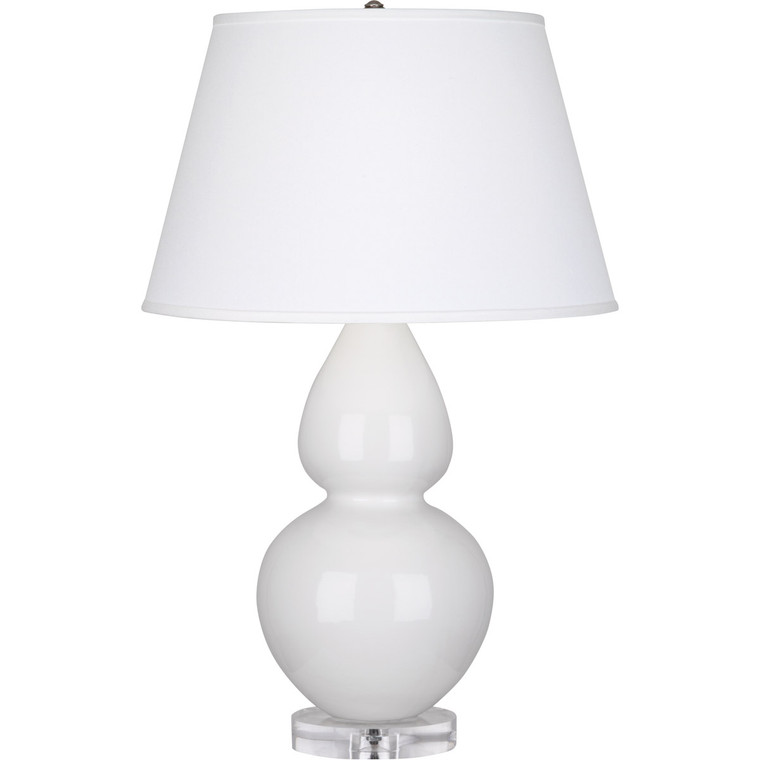 Robert Abbey Lily Double Gourd Table Lamp in Lily Glazed Ceramic with Lucite Base A670X