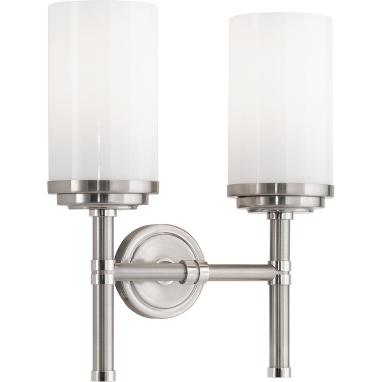 Robert Abbey Halo Wall Sconce in Brushed Nickel Finish with Polished Nickel Accents B1325