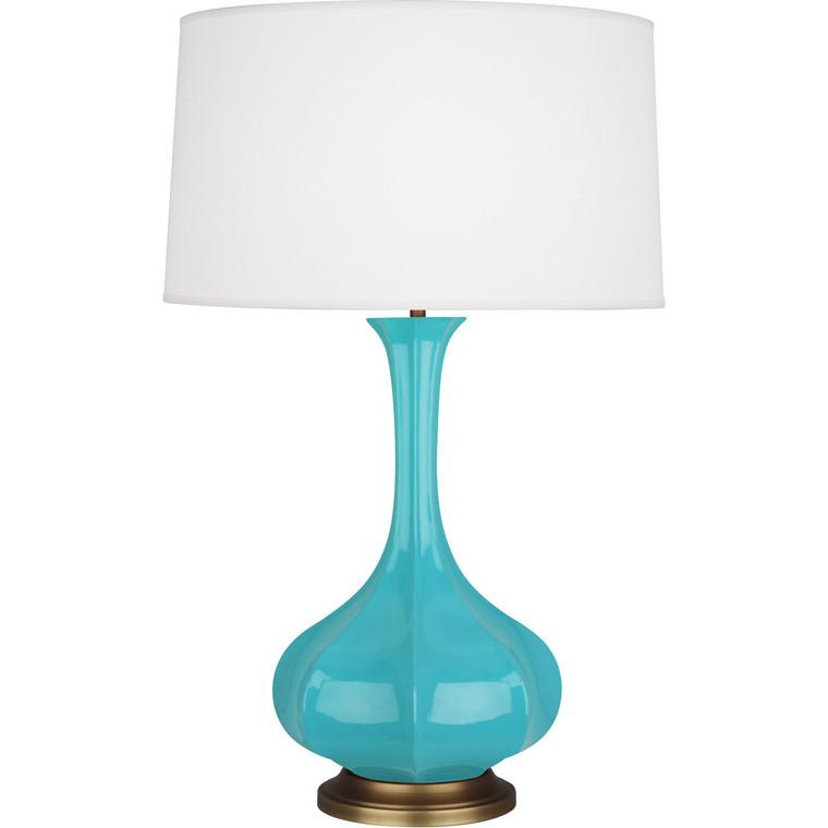 Robert Abbey Egg Blue Pike Table Lamp in Egg Blue Glazed Ceramic EB994