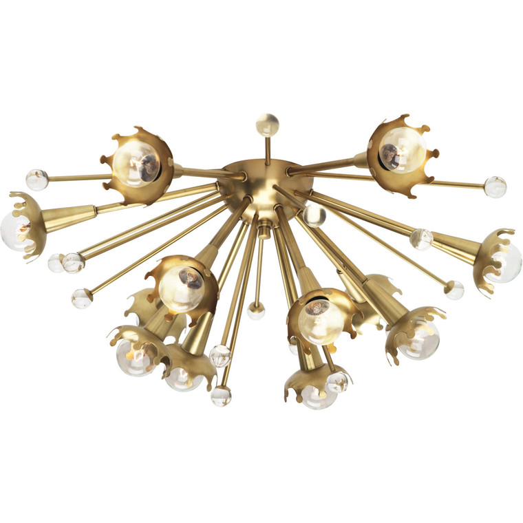 Robert Abbey Jonathan Adler Sputnik Wall Sconce in Antique Brass with Crystal Accents 711
