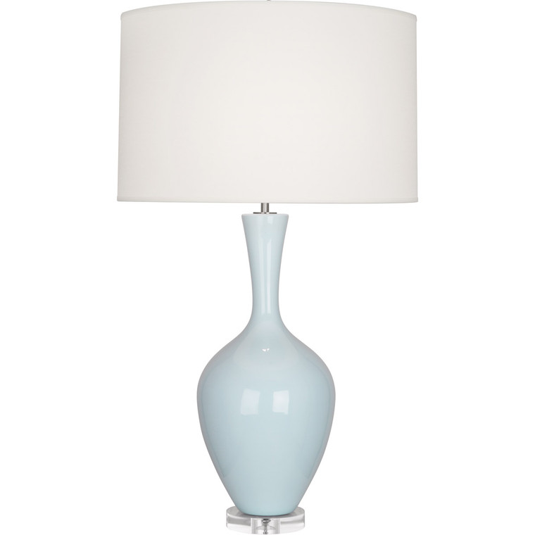 Robert Abbey Baby Blue Audrey Table Lamp in Baby Blue Glazed Ceramic BB980