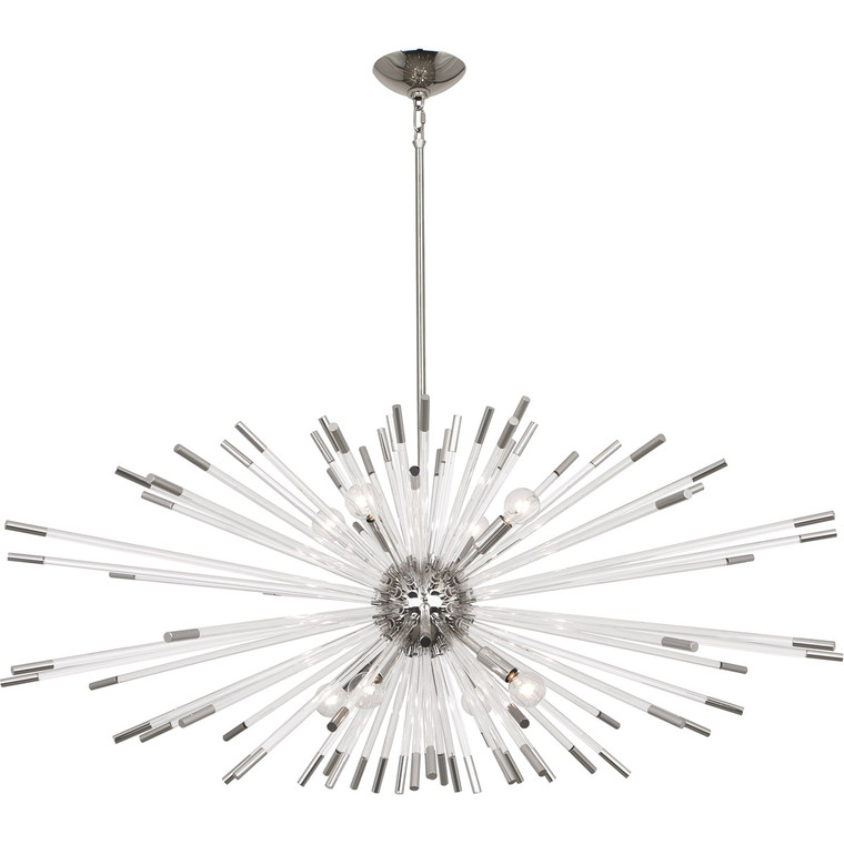 Robert Abbey Andromeda Chandelier in Polished Nickel Finish S1200