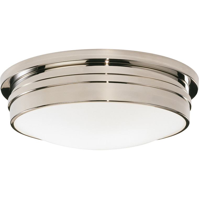 Robert Abbey Roderick Flushmount in Polished Nickel S1317