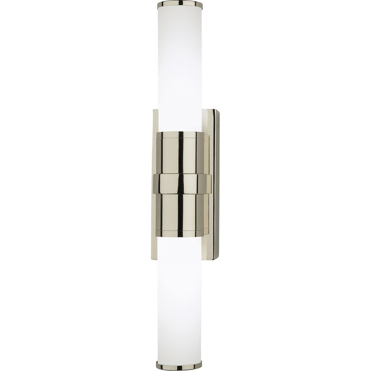 Robert Abbey Roderick Wall Sconce in Polished Nickel Finish S1350