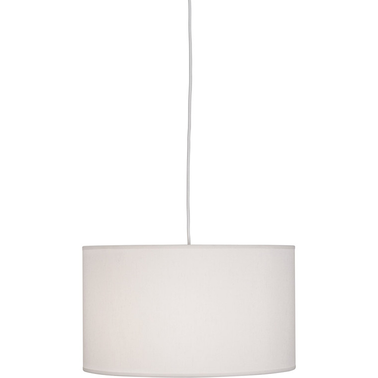 Robert Abbey Elena Pendant in Painted White Finish W168