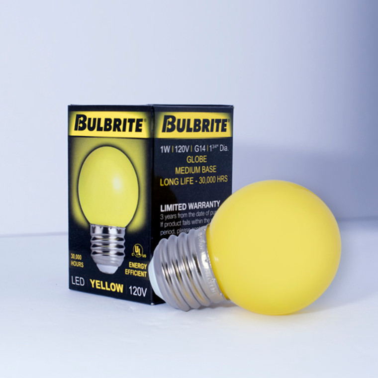 Bulbrite: 770154 LED Specialty Colors: C7, C9, G14 (120V) Watts: 1 - LED/G14Y (10 Pack)