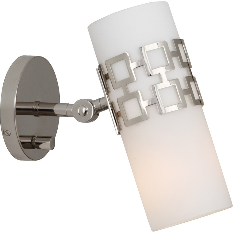 Robert Abbey Jonathan Adler Parker Wall Sconce in Polished Nickel S639