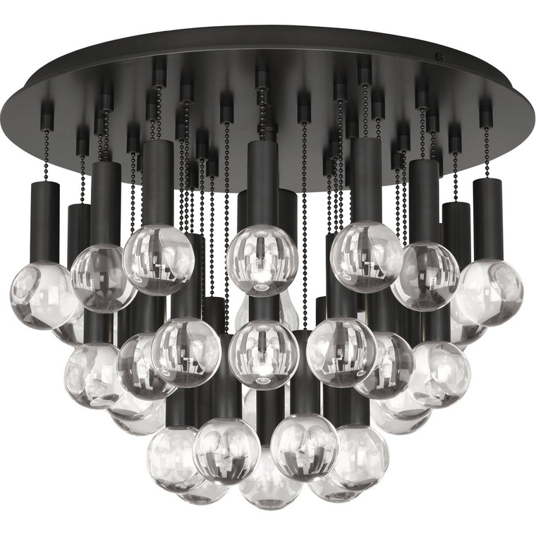 Robert Abbey Jonathan Adler Milano Flushmount in Deep Patina Bronze Finish with Crystal Accents Z754