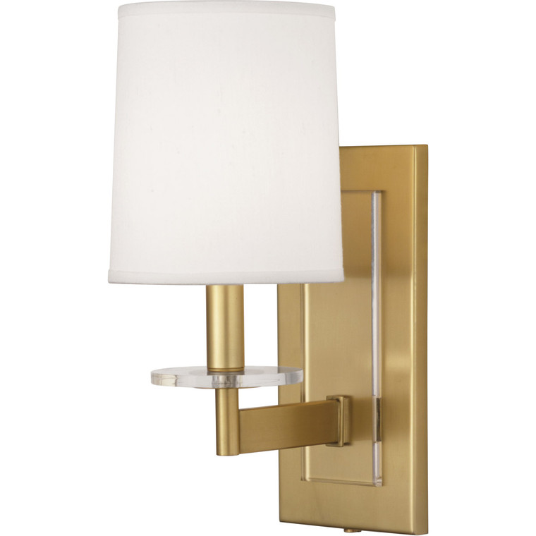 Robert Abbey Alice Wall Sconce in Antique Brass Finish with Lucite Accents 3381