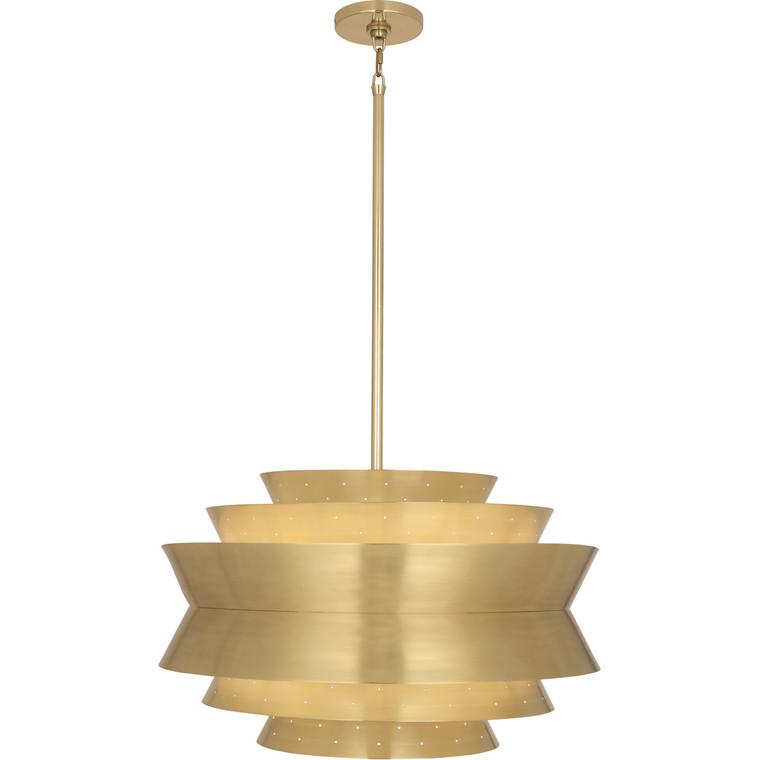 Robert Abbey Pierce Pendant in Modern Brass 983