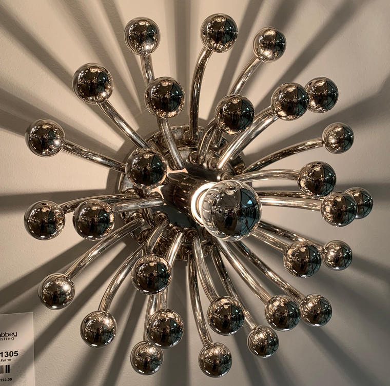 Robert Abbey Anemone Flushmount in Polished Nickel S1305