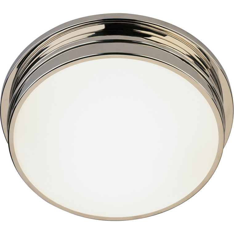 Robert Abbey Roderick Flushmount in Polished Nickel S1314