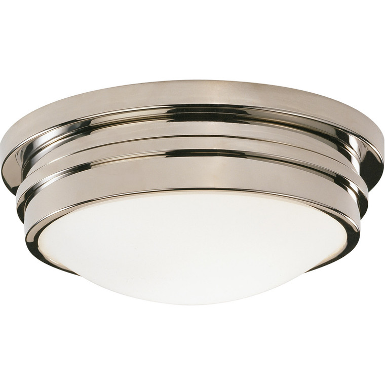 Robert Abbey Roderick Flushmount in Polished Nickel S1316