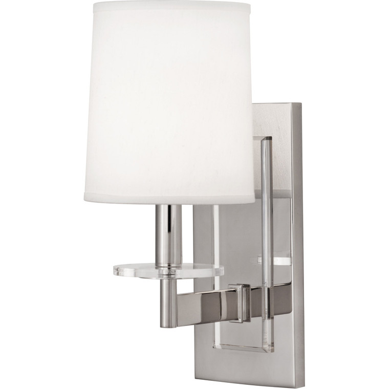 Robert Abbey Alice Wall Sconce in Polished Nickel Finish with Lucite Accents S3381
