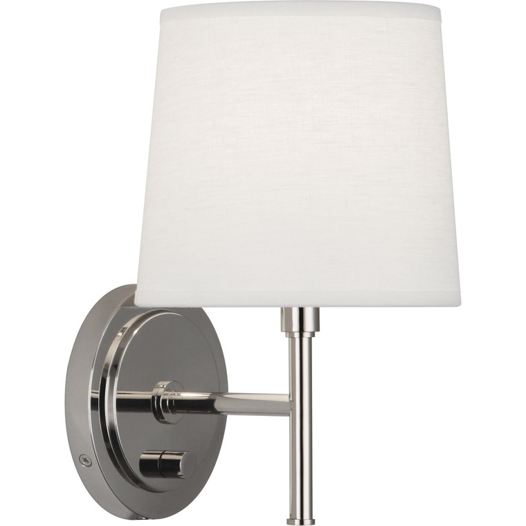 Robert Abbey Bandit Wall Sconce in Polished Nickel Finish S349