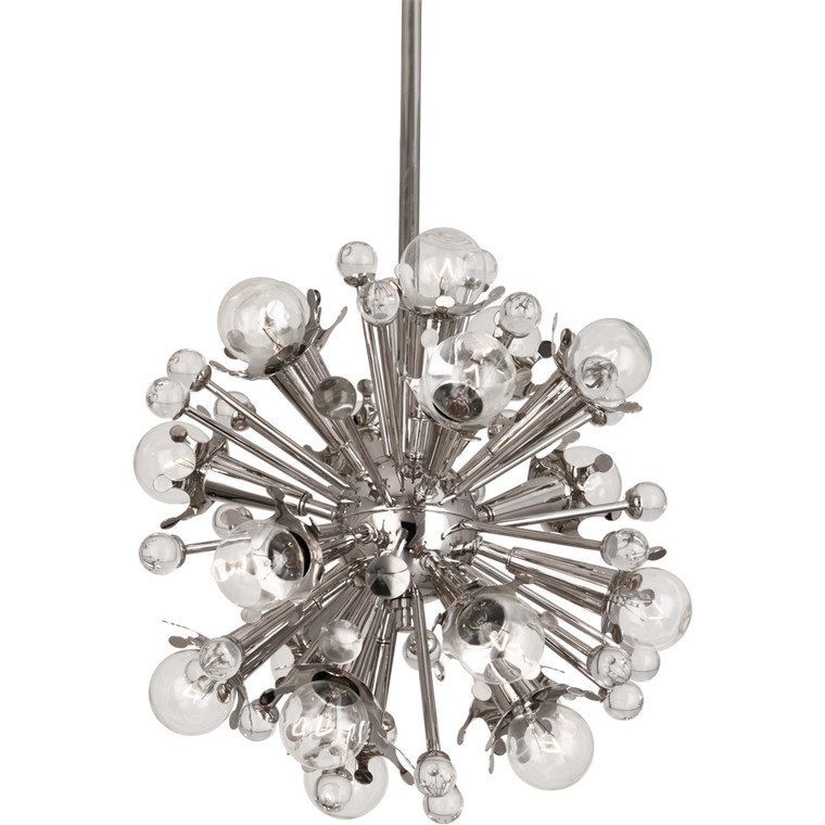 Robert Abbey Jonathan Adler Sputnik Pendant in Polished Nickel with Crystal Accents S713