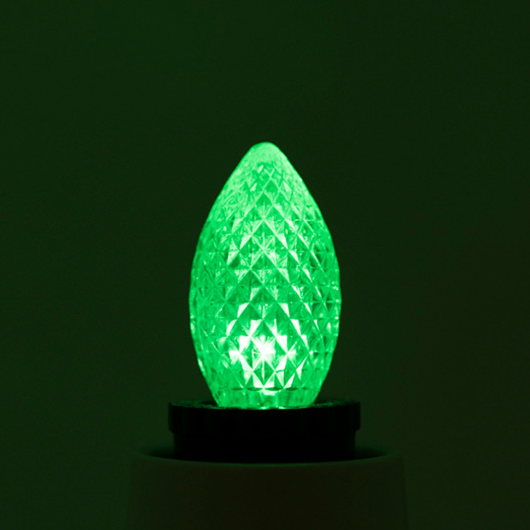 Bulbrite: 770174 LED Specialty Colors: C7, C9, G14 (120V) Watts: 0.6 - LED/C7G (25 Pack)