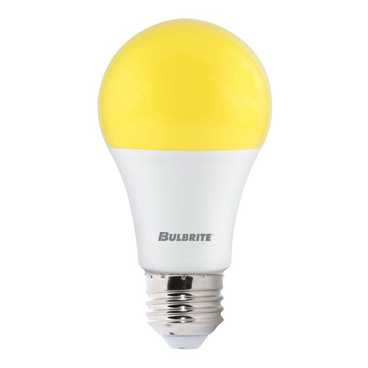 Bulbrite: 774000-1 LED A-Type Yellow Bug: A19 Watts: 9.5 - LED9A19/YB (Pack of 1)