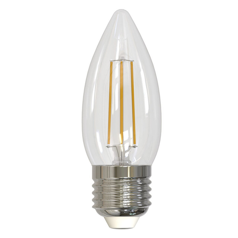 Bulbrite: 776862 LED Filaments: Fully Compatible Dimming, Clear Watts: 4.5 - LED4B11/27K/FIL/E26/3 (1 Pack)