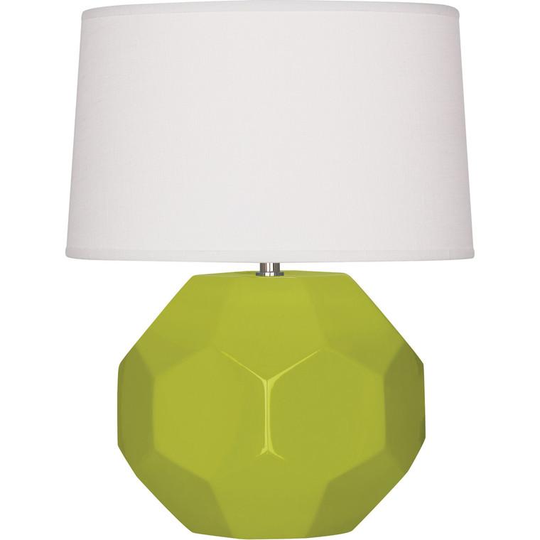Robert Abbey Apple Franklin Table Lamp in Apple Glazed Ceramic