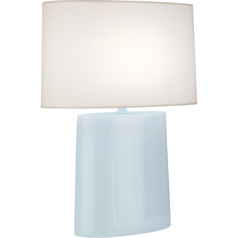 Robert Abbey Baby Blue Victor Table Lamp in Baby Blue Glazed Ceramic