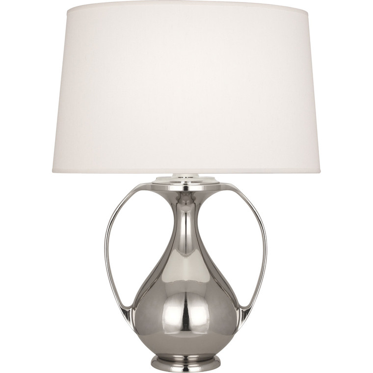 Robert Abbey Belvedere Table Lamp in Polished Nickel Finish