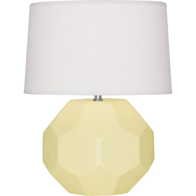 Robert Abbey Butter Franklin Table Lamp in Butter Glazed Ceramic