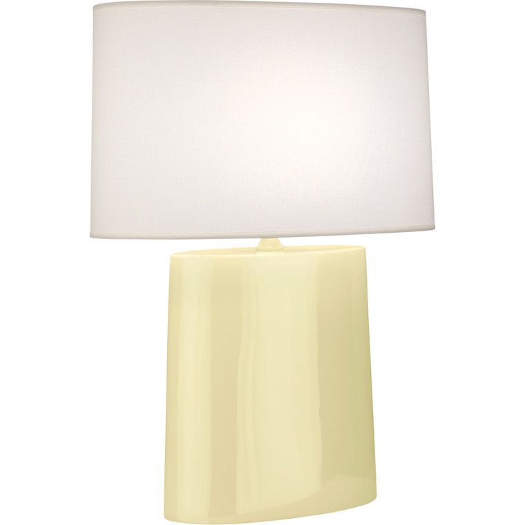 Robert Abbey Butter Victor Table Lamp in Butter Glazed Ceramic