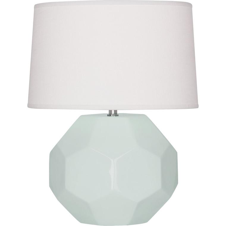 Robert Abbey Celadon Franklin Table Lamp in Celadon Glazed Ceramic