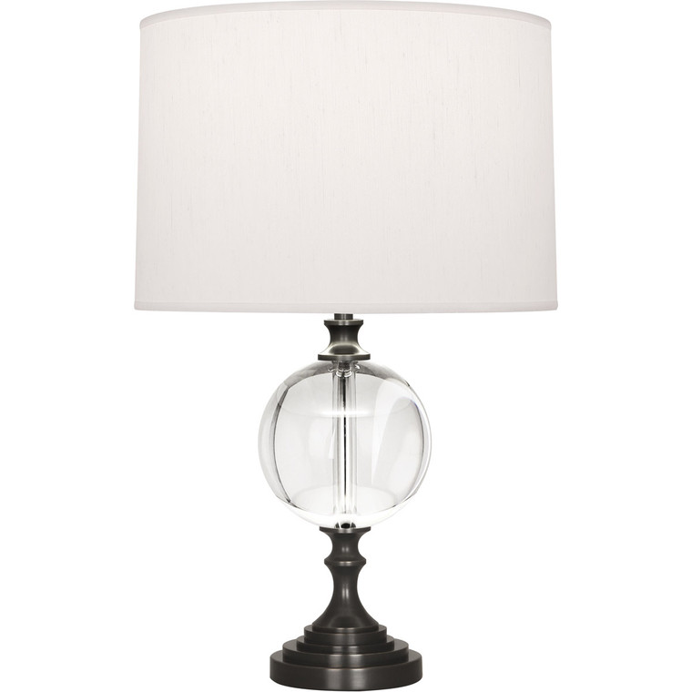 Robert Abbey Celine Accent Lamp in Deep Patina Bronze Finish with Crystal Ball Accent