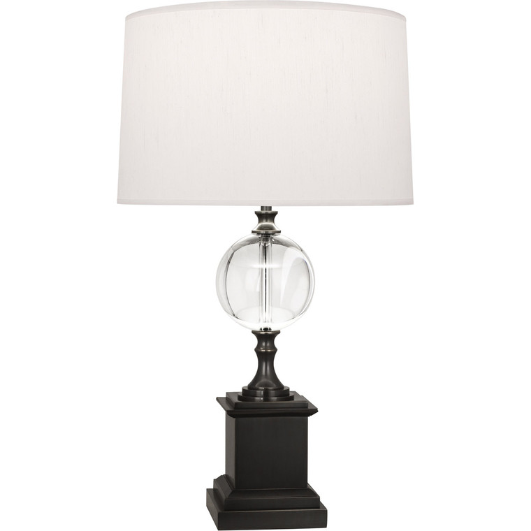 Robert Abbey Celine Table Lamp in Deep Patina Bronze Finish with Crystal Ball Accent