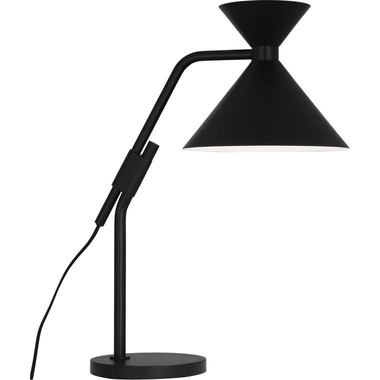 Robert Abbey Cinch Table Lamp in Matte Black Finish