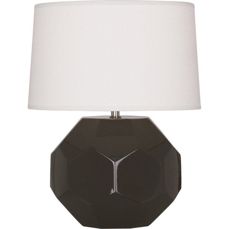 Robert Abbey Coffee Franklin Accent Lamp in Coffee Glazed Ceramic