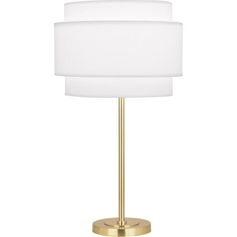 Robert Abbey Decker Table Lamp in Modern Brass Finish